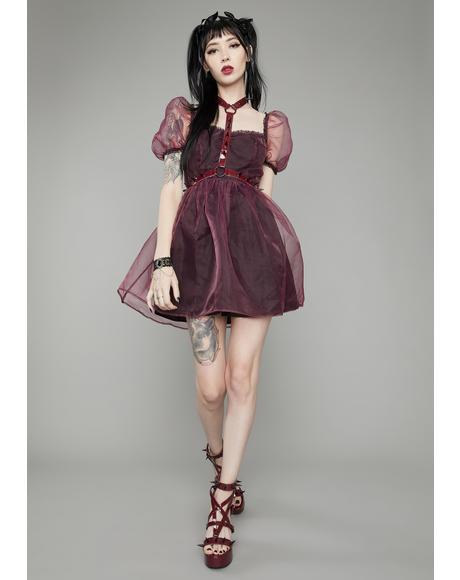 Wine Hell On Earth Harness Dress