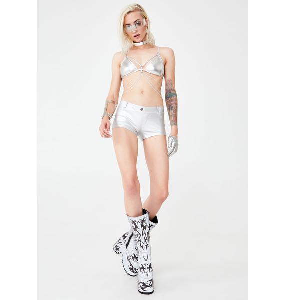 Kiki Riki Stellar Twilight Metallic Shorts