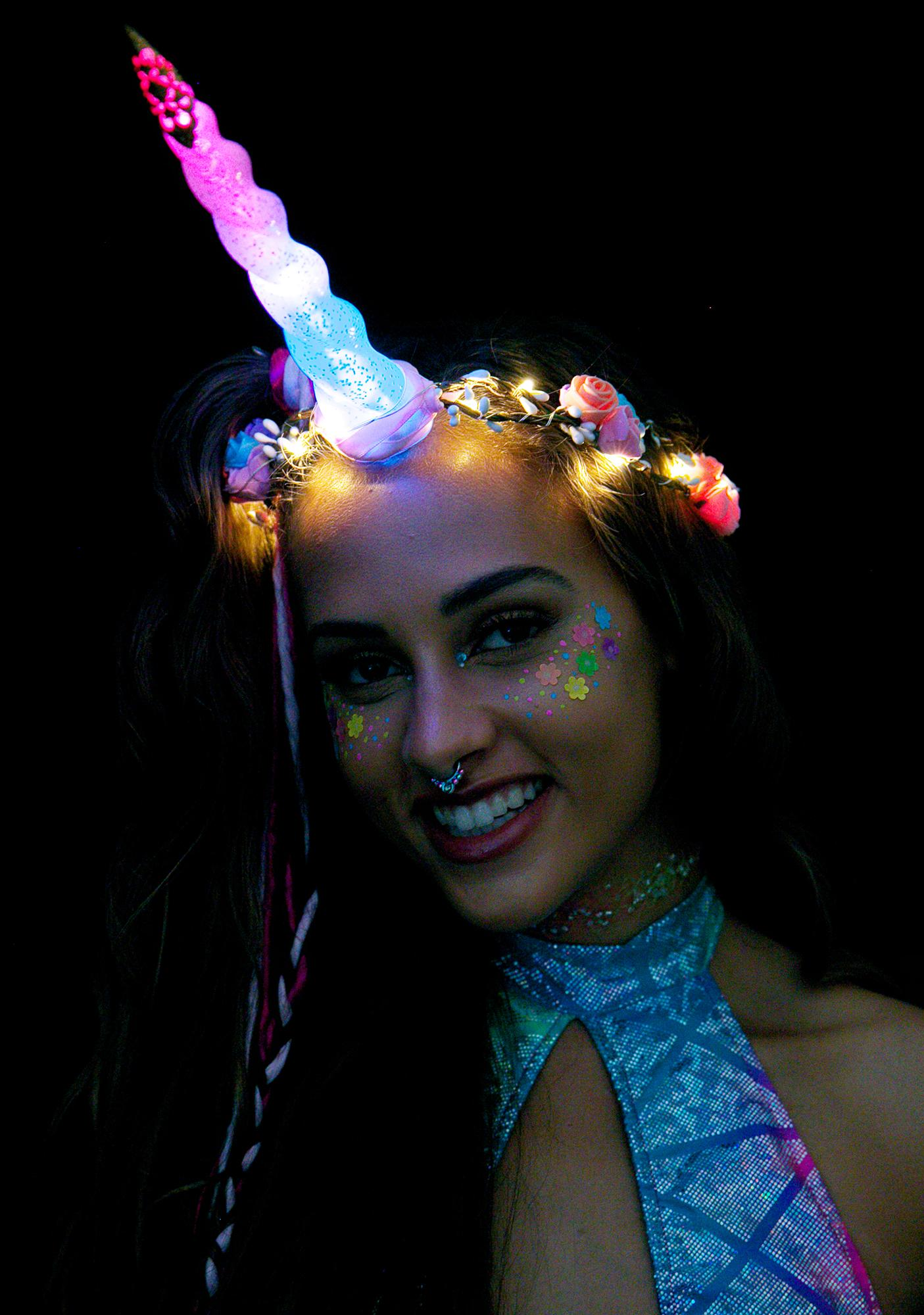 J Valentine Unicorn Queen Light-Up Flower Crown