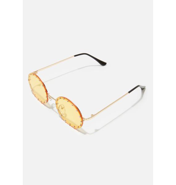 Mellow Hippie Heartbreak Oval Sunglasses