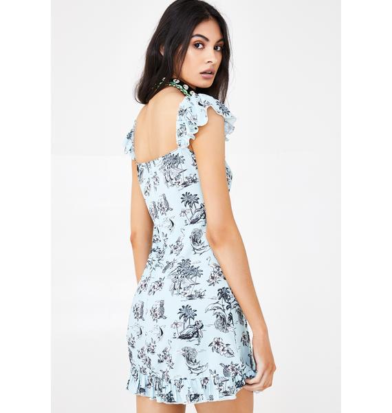 NEW GIRL ORDER Hello Hawaii Mini Dress