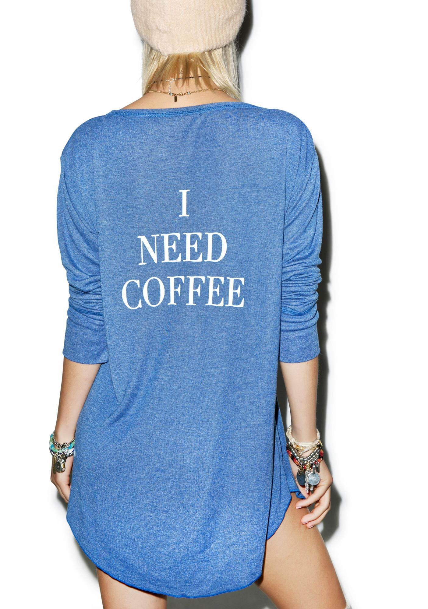 Wildfox Couture I Need Coffee Snowed In Sleep Shirt