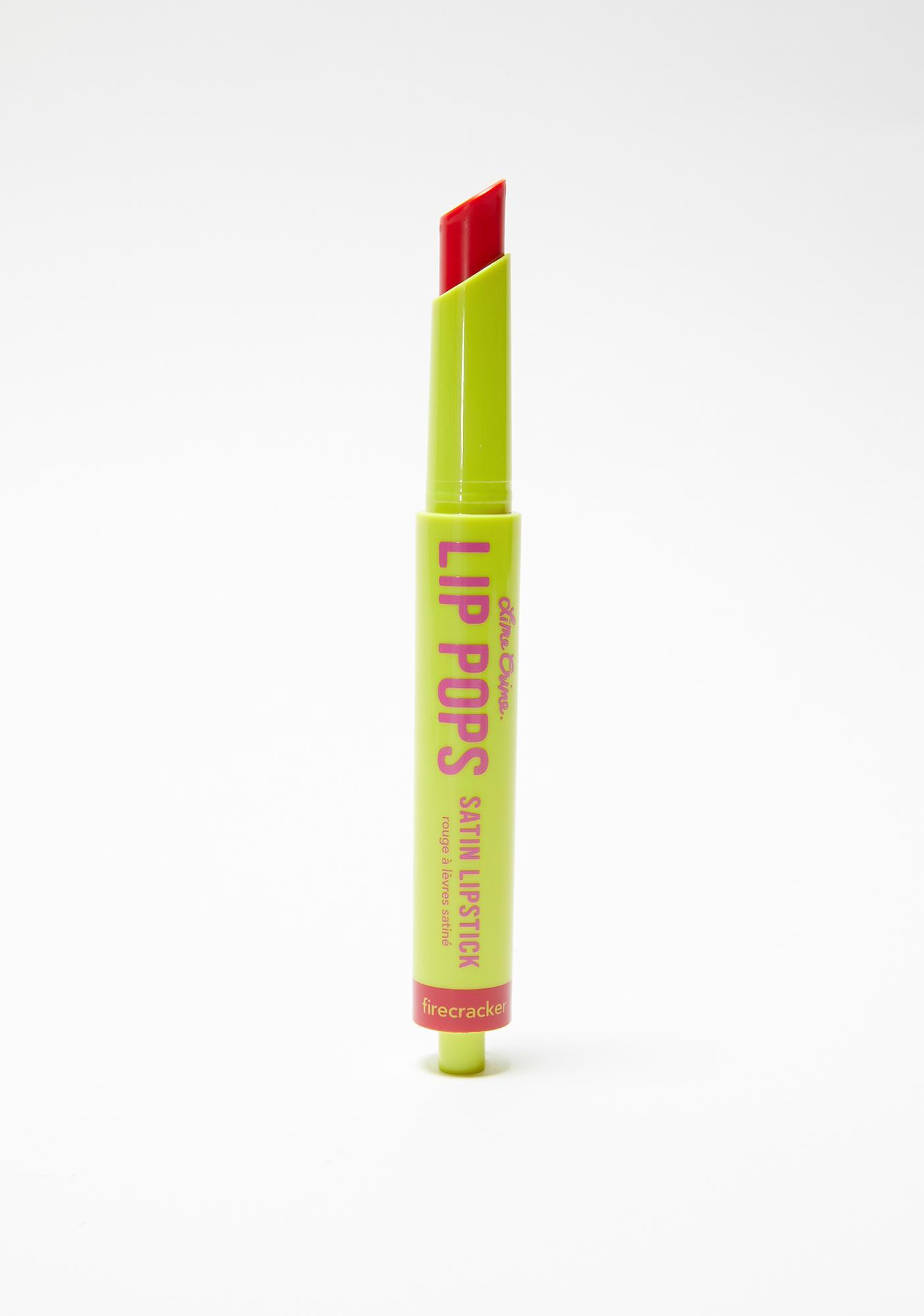 Lime Crime Firecracker Lip Pops Satin Lipstick