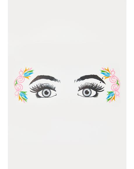 Fantasy Frenzy Glitter Eye Decals