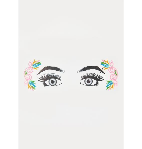 Fantasy Frenzy Glitter Eye Decals