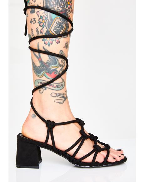Too Fiyahh Wrap Heels