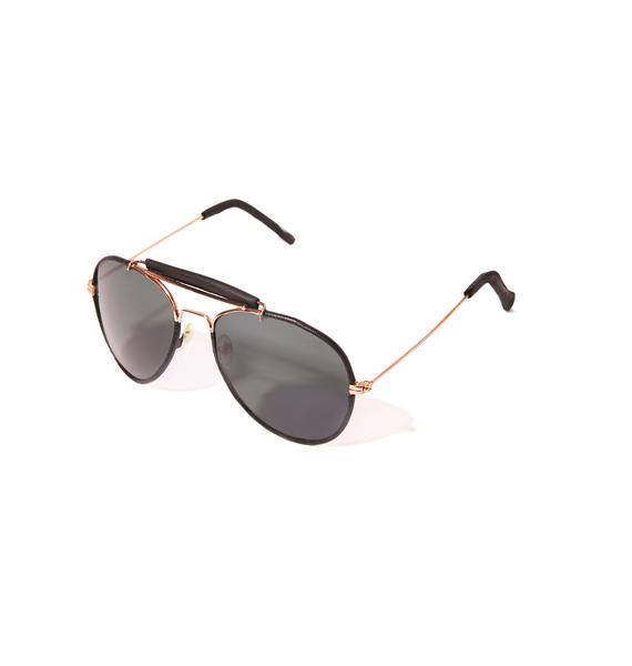 Raisin' Questions Aviator Sunglasses
