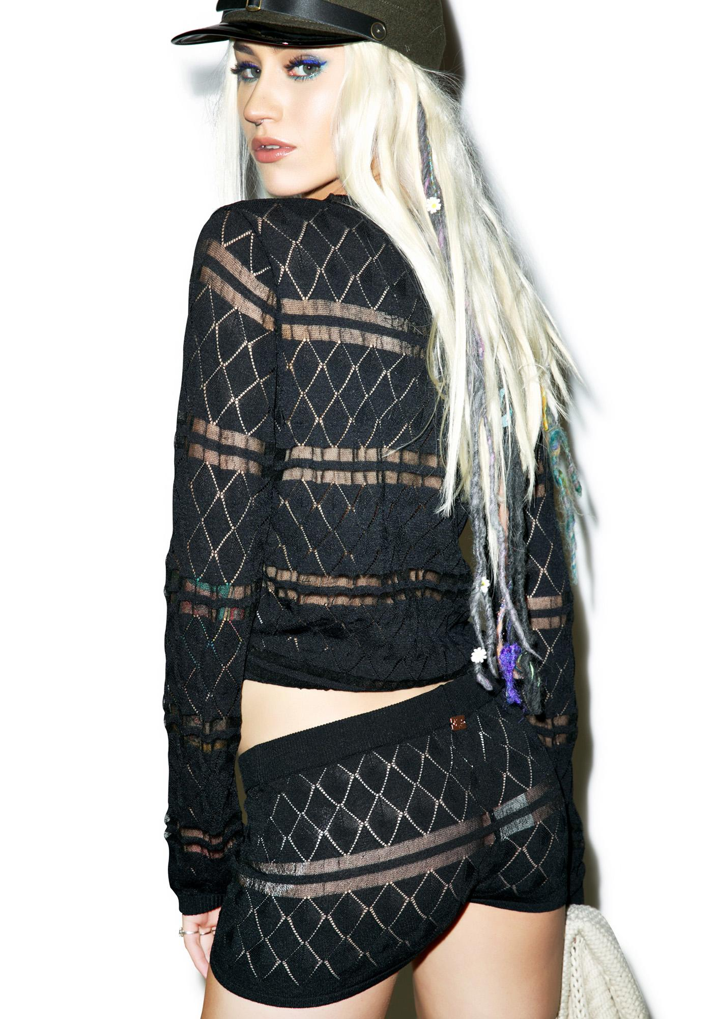 For Love & Lemons Joni Knit Shorts