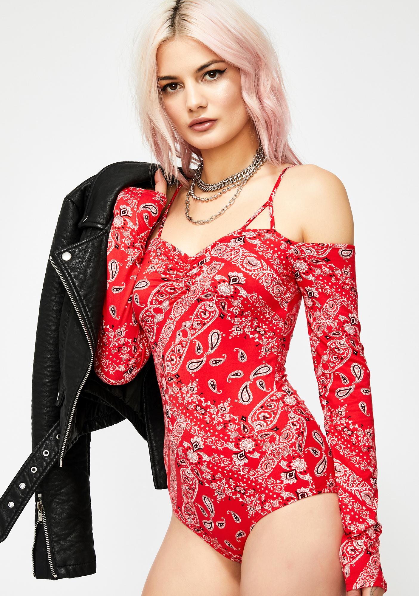Scarlet Love Thief Bandana Bodysuit
