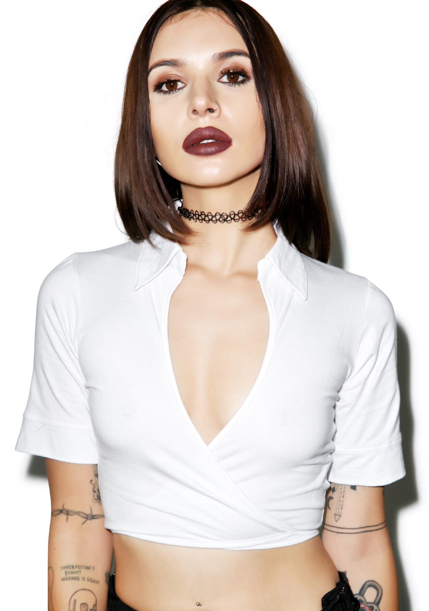 Motel Jocelyn Crop Top
