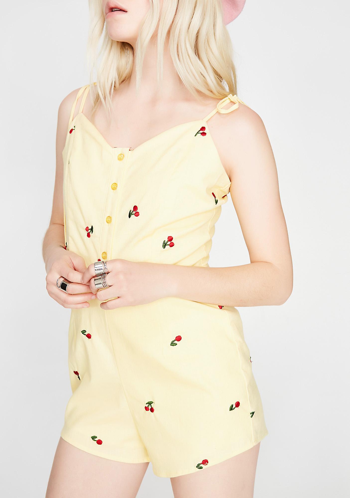 Fruit Suit Printed Romper