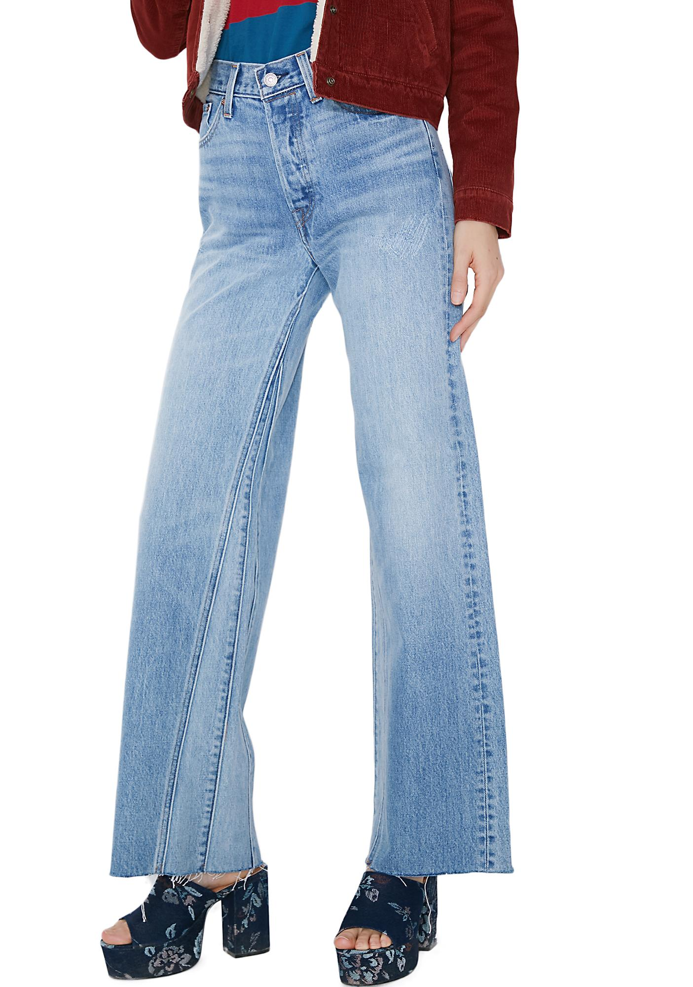 Levis Altered Wide Leg Jeans