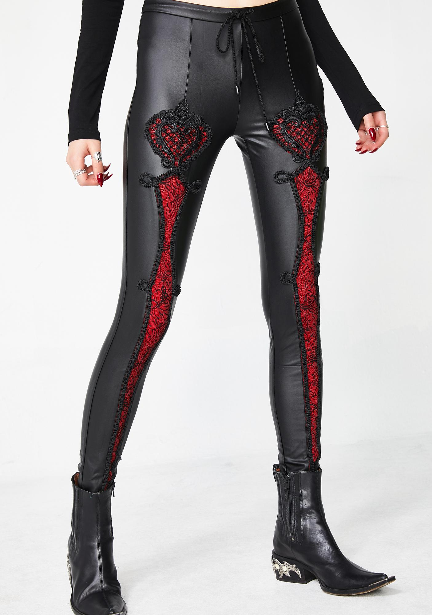 655a3d0449b Punk Rave Vampire Sweet Love Leather Gothic Leggings
