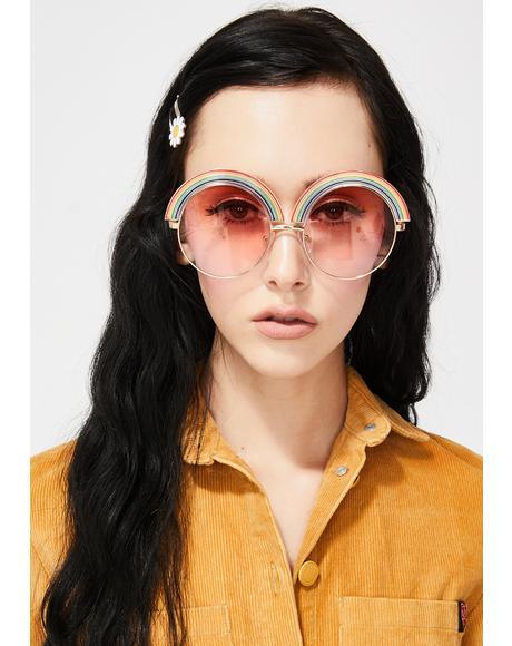 Rainbow Vision Round Sunglasses