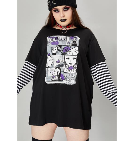 Widow Wicked Tale Of Two Fiends Layered Graphic Tee