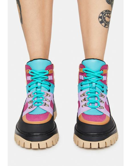 Peace Craft Colorblock Boots