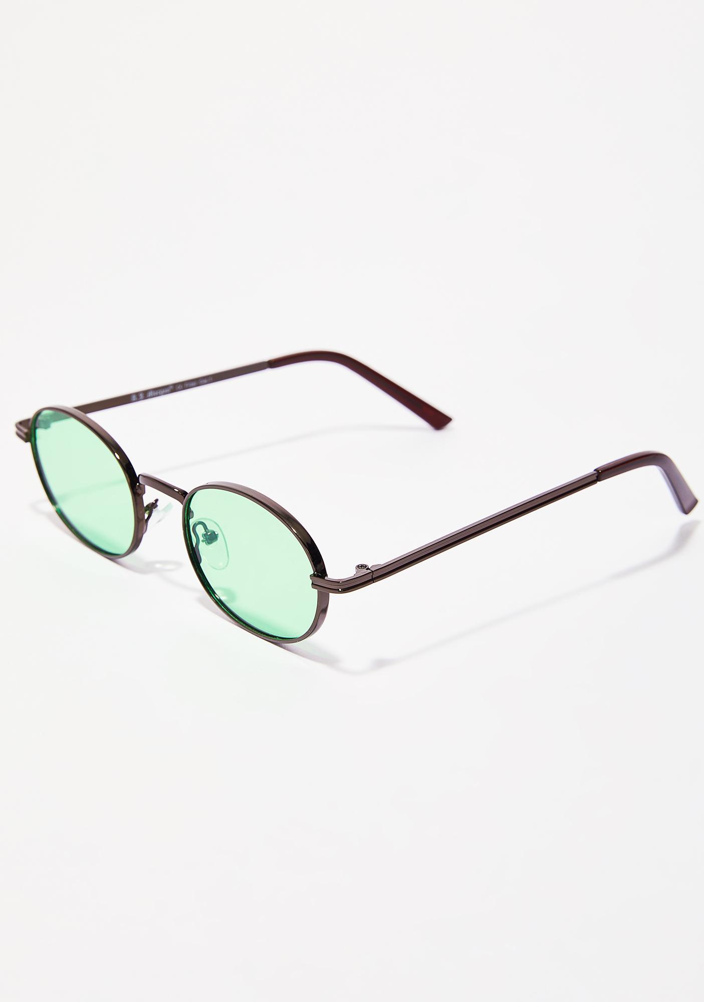 Boy Bye Oval Sunglasses