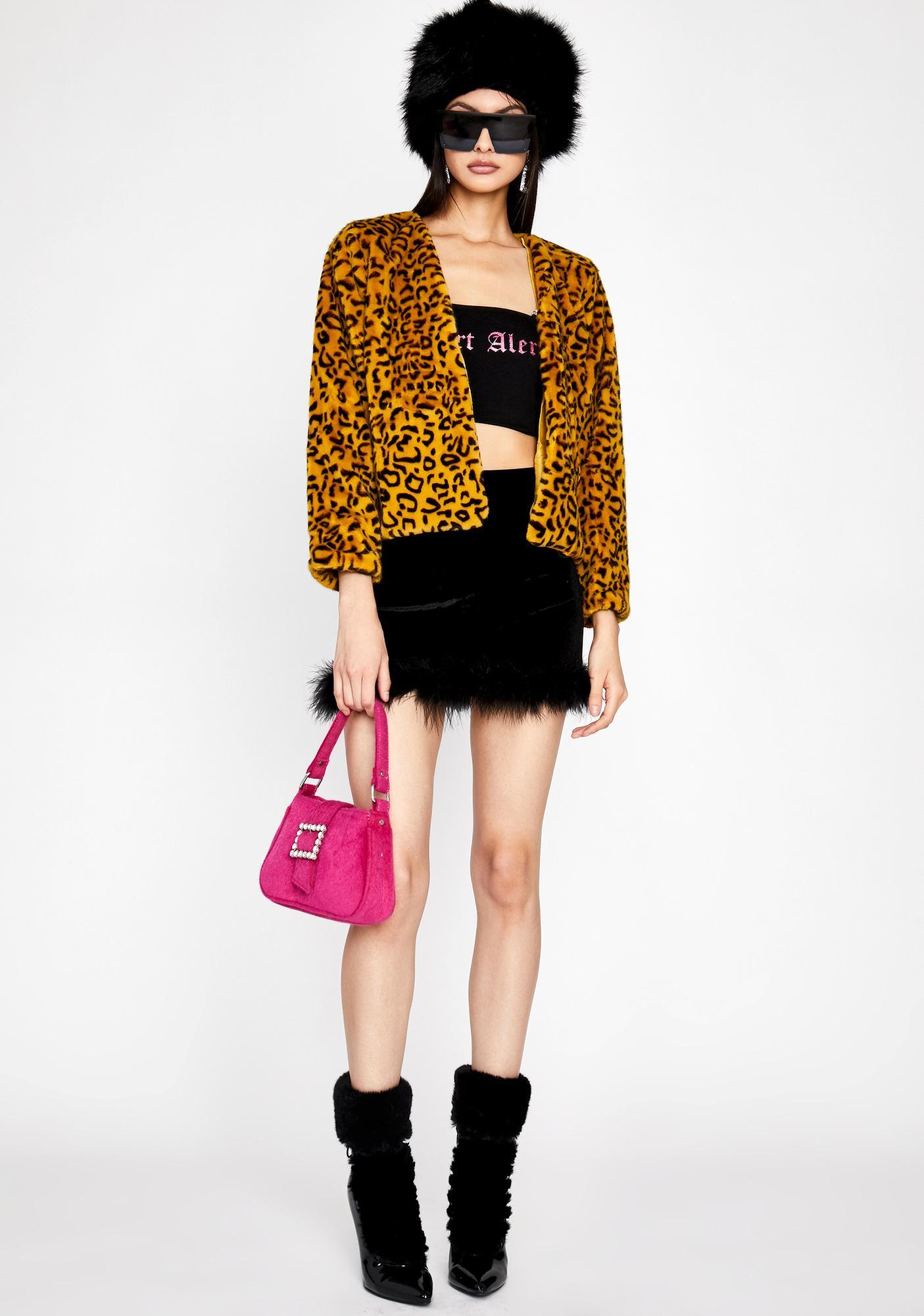 Sunny Wild Style Fuzzy Jacket