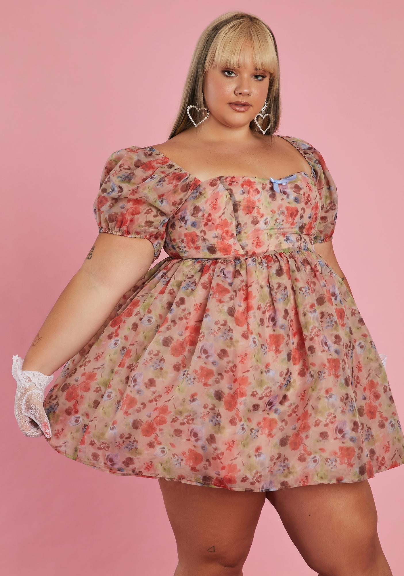 Sugar Thrillz Be My Winding Wheel Babydoll Dress
