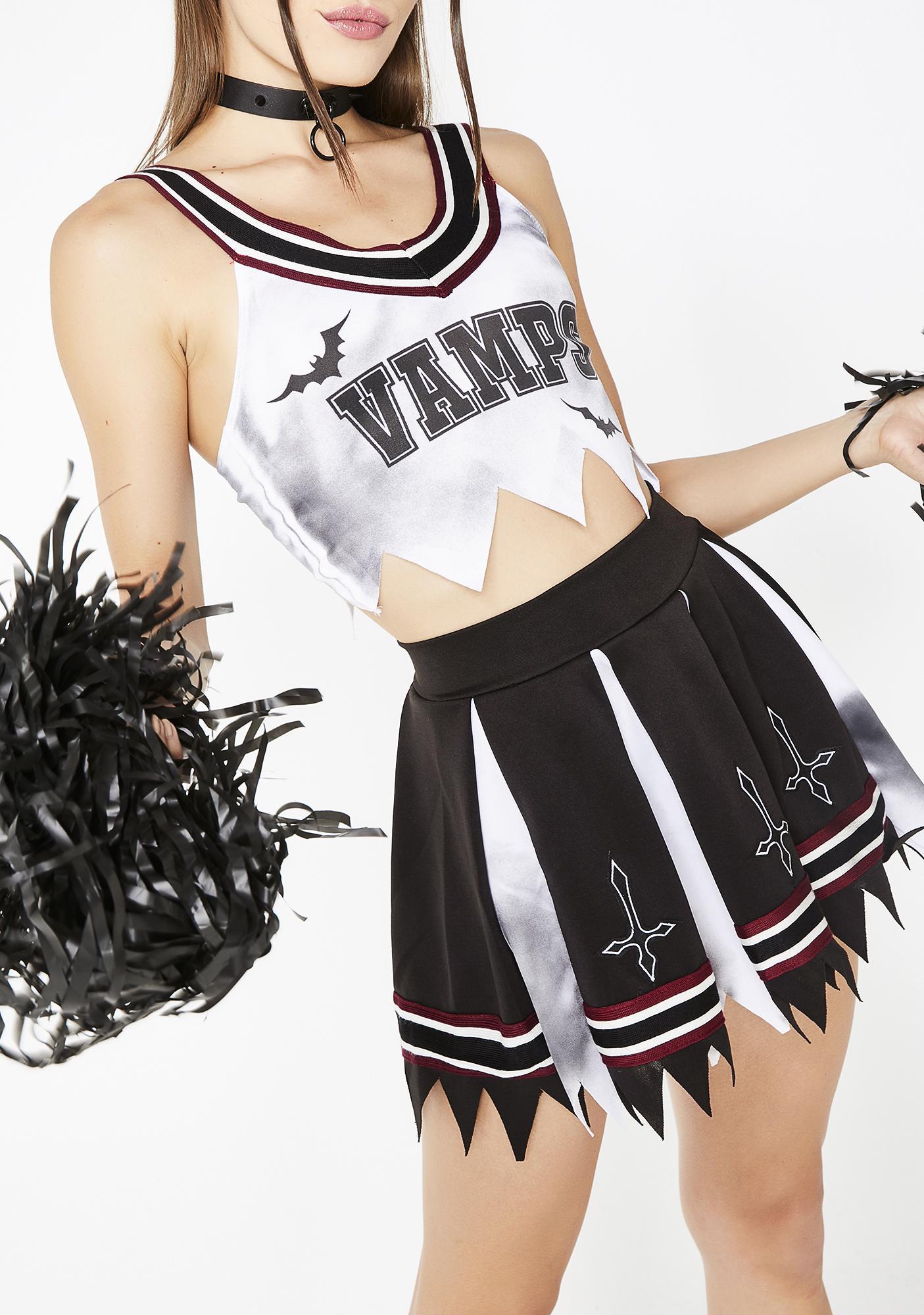 Trickz & Treatz Vamp Cheerleader Costume Set