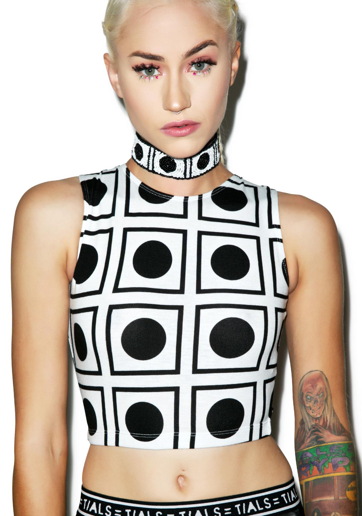 This Is A Love Song Op Art Crop Top