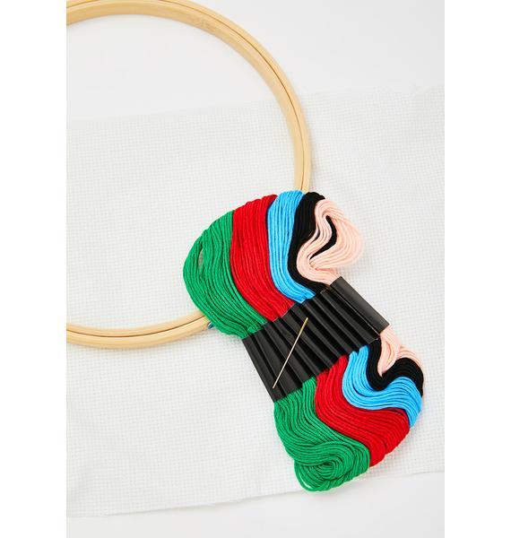 Stitch 'Em Up DIY Embroidery Kit