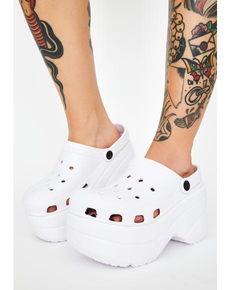 Coconut La Croxx Platform Sandals
