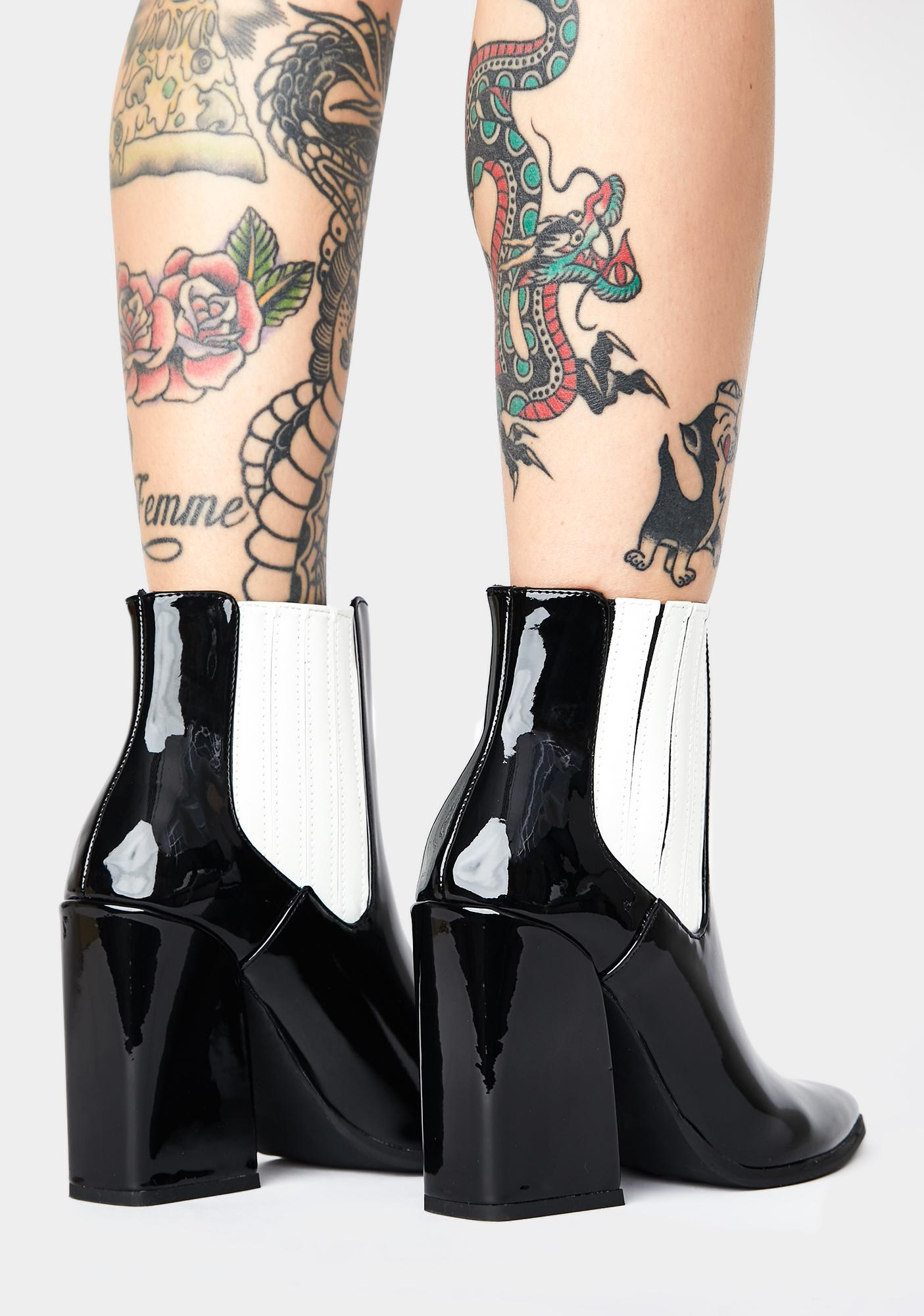 Public Desire Patent Brianna Ankle Boots