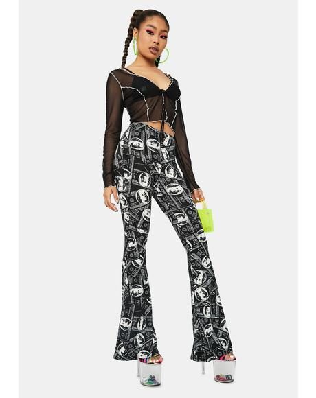 Money Attractor Flared Pants