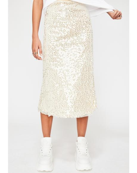 Dare To Shine Midi Skirt