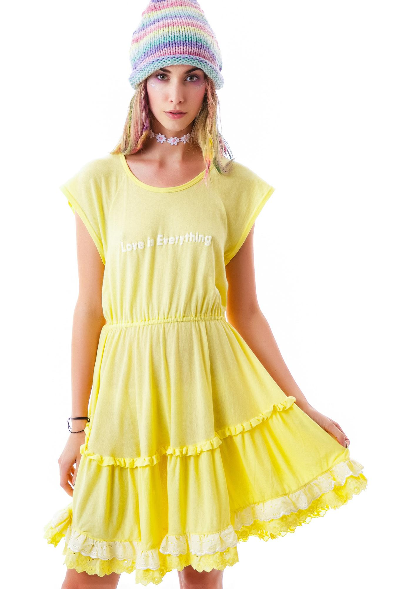 Wildfox Couture Love Braille Romantic Dress