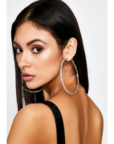 High Class Flex Rhinestone Hoops