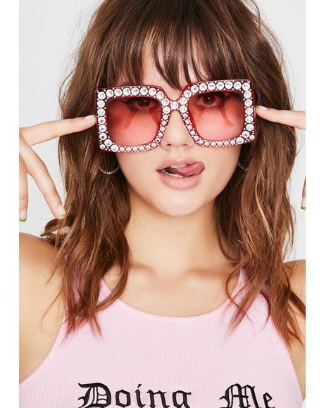 Pop The Dream Rhinestone Sunglasses