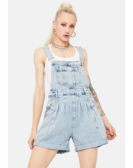 Right On Track Denim Shortalls