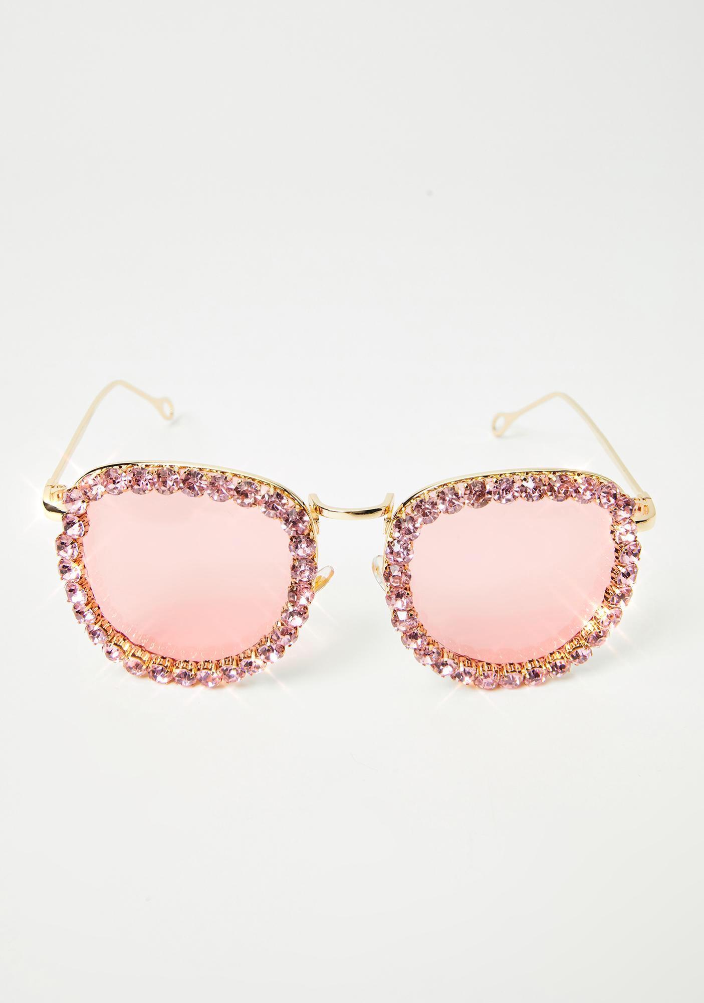Glamour Patrol Rhinestone Sunglasses