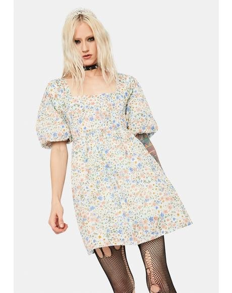 Dancing in the Desert Floral Babydoll Dress