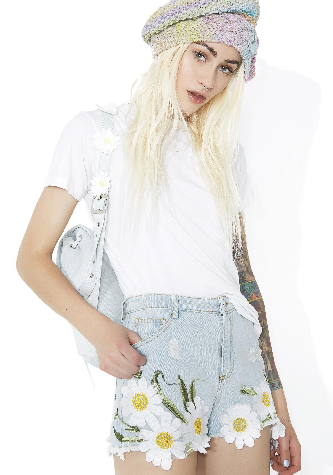 Wandering Meadows Embroidered Shorts