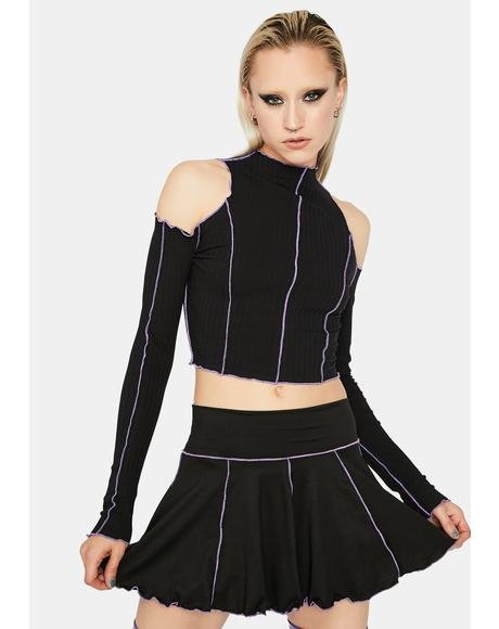 Lilac Stuck With U Pleated Mini Skirt