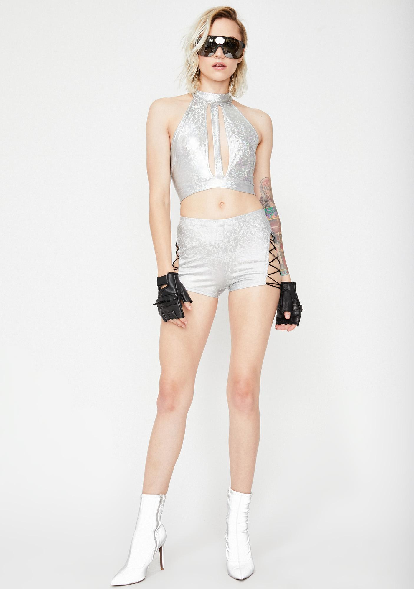 Cosmic Acid Fairy Hologram Shorts