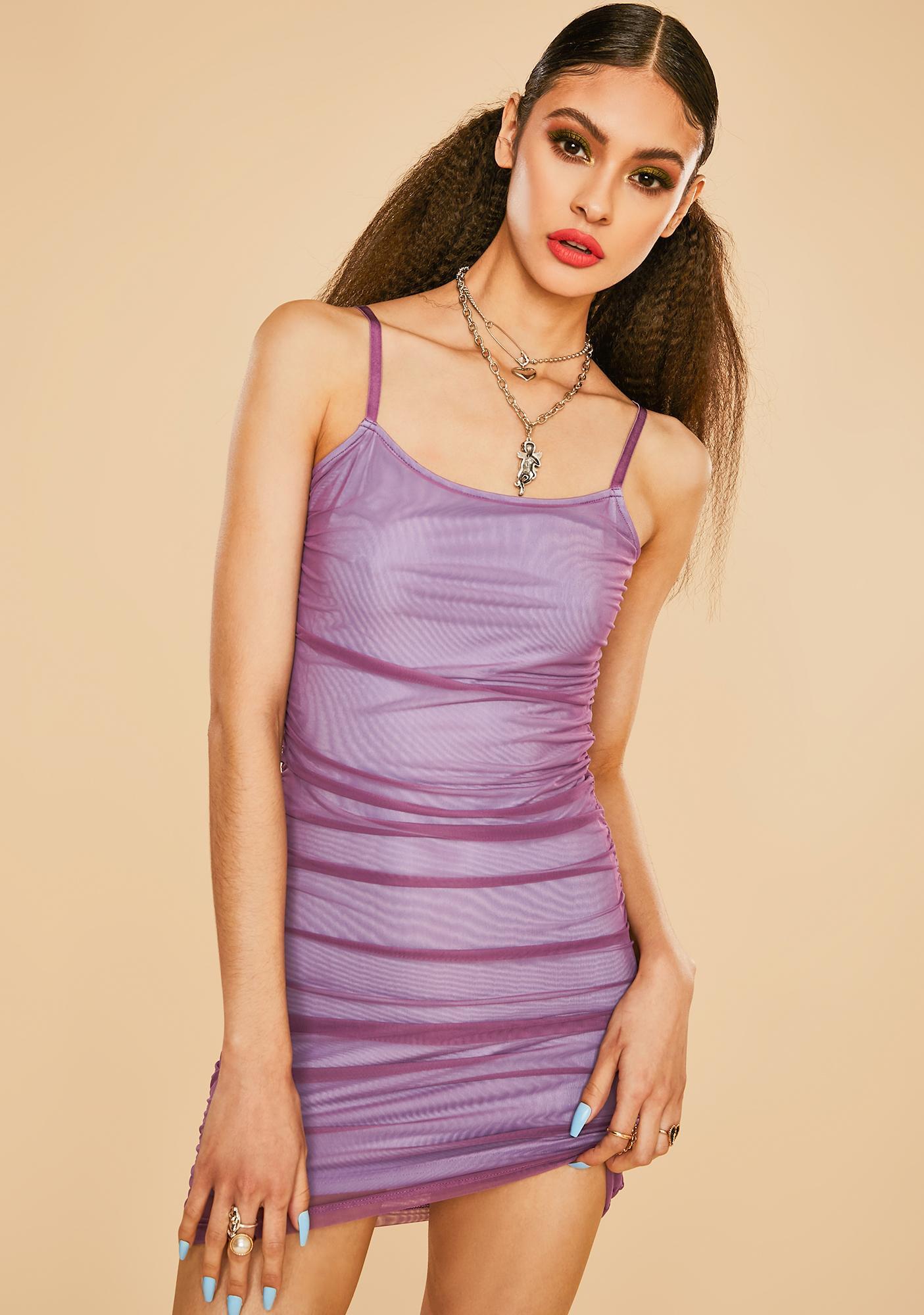 Current Mood Model Muse Ruched Mini Dress
