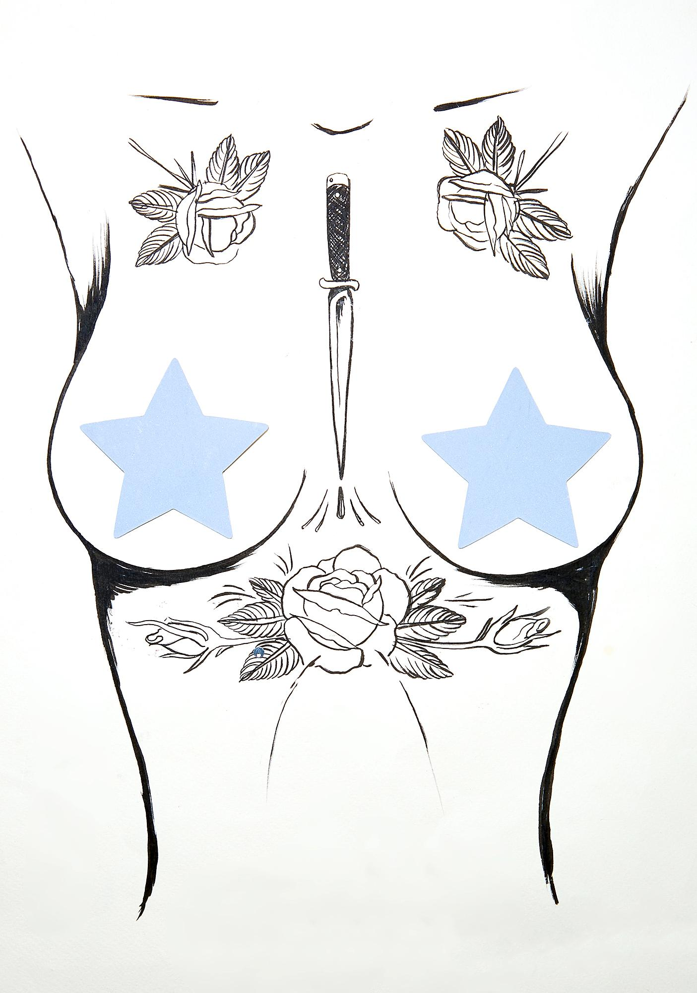 Neva Nude Reflective Star Pasties
