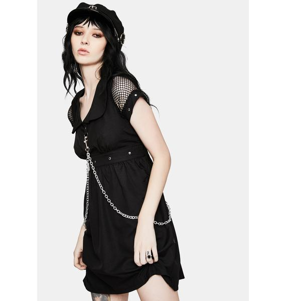 Tripp NYC Black Chain Strap Mini Dress
