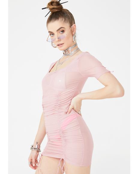 Ribbon Sweet Mini Dress