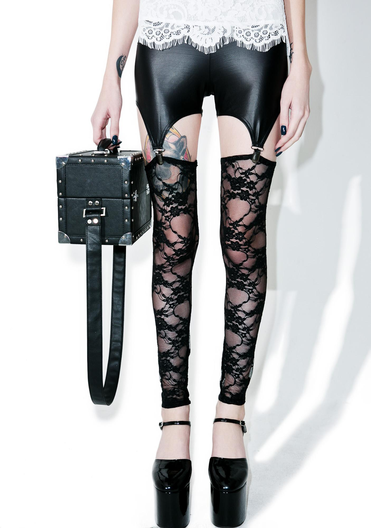 Lace Lust Garter Leggings