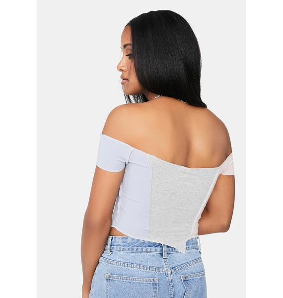 Pool Wasted On You Patchwork Crop Top