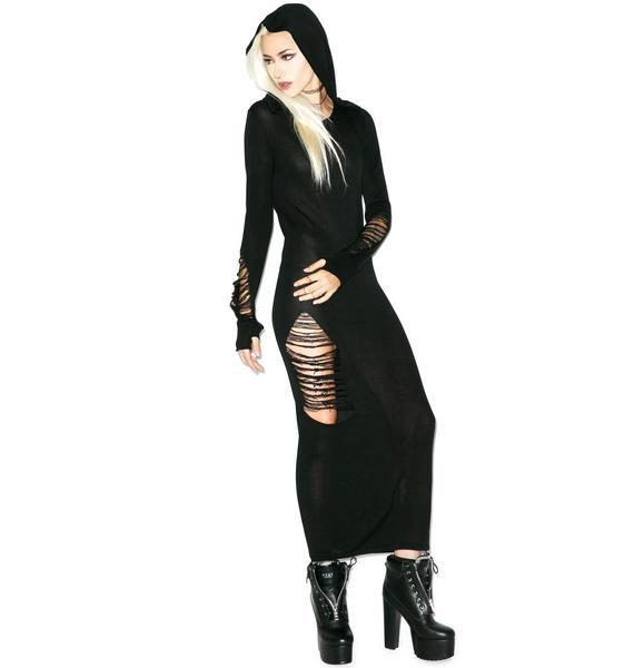 Killstar Nu War Knit Maxi Dress