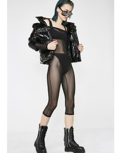 Stealth Fighter Sheer Catsuit