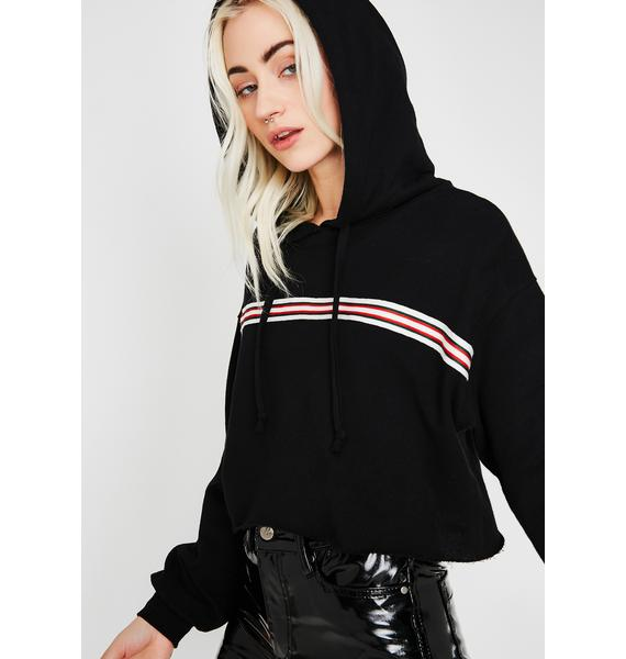 Different Level Striped Hoodie