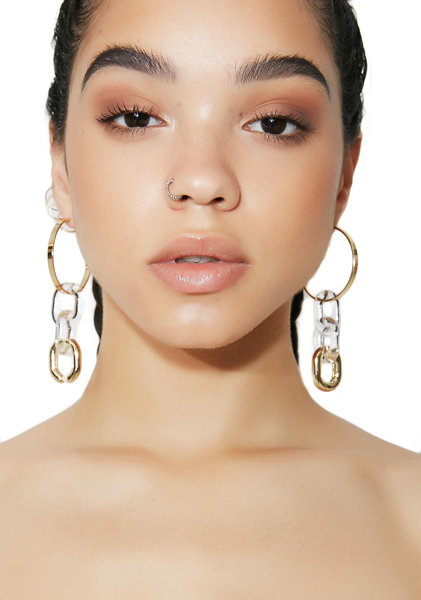 In Chains Hoop Earrings