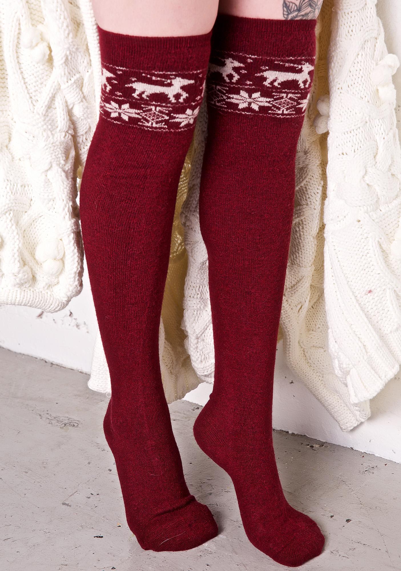 Cuz I Sleigh Knee High Socks